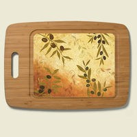 Olio Bamboo & Glass Cutting Board