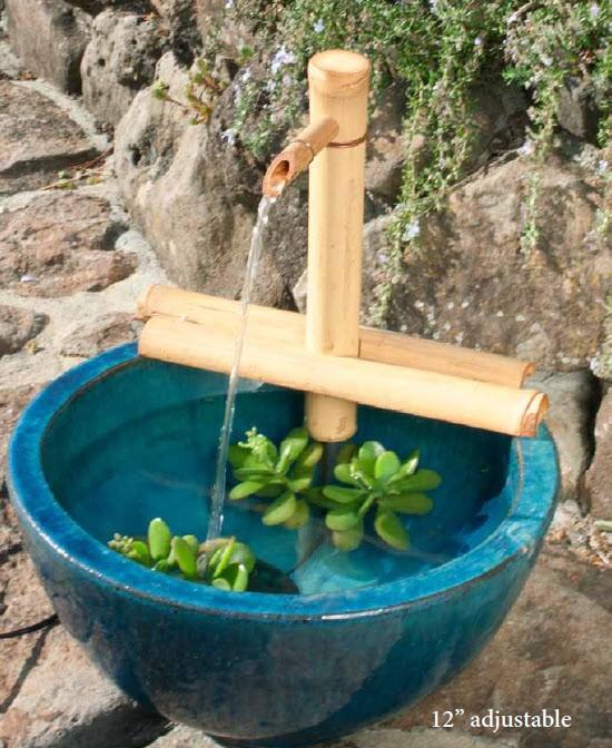 """12"""" Adjustable Bamboo Fountain Kit"""