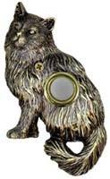 Brass Cat  Doorbell Cover