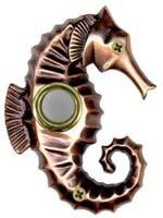 Bronze Seahorse Doorbell Cover