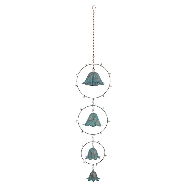 Verdigris Flower Bell Light