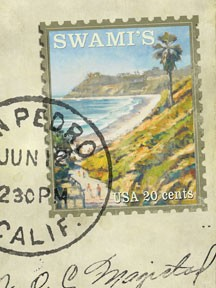Swami's Stamp Metal/Wood Sign