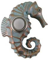 Painted Seahorse Doorbell Cover