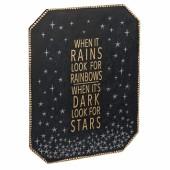 """""""When it Rains"""" Plaque"""