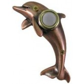 Bronze Dolphin Doorbell Cover