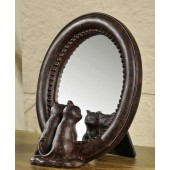 Rustic Cat Mirror