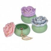 Flower Trinket Box - Gray