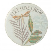 """""""Let Love Grow"""" Stepping Stone/Plaque"""