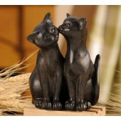 Pair of Cats Figurine