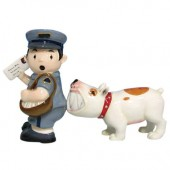 Postman and Dog Salt &  Pepper